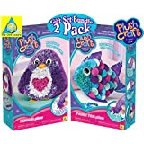 Orb Factory Plush Craft Fabric by Number Fancy Fish Pillow & Penguin Pillow Deluxe Gift Set Bundle - 2 Pack