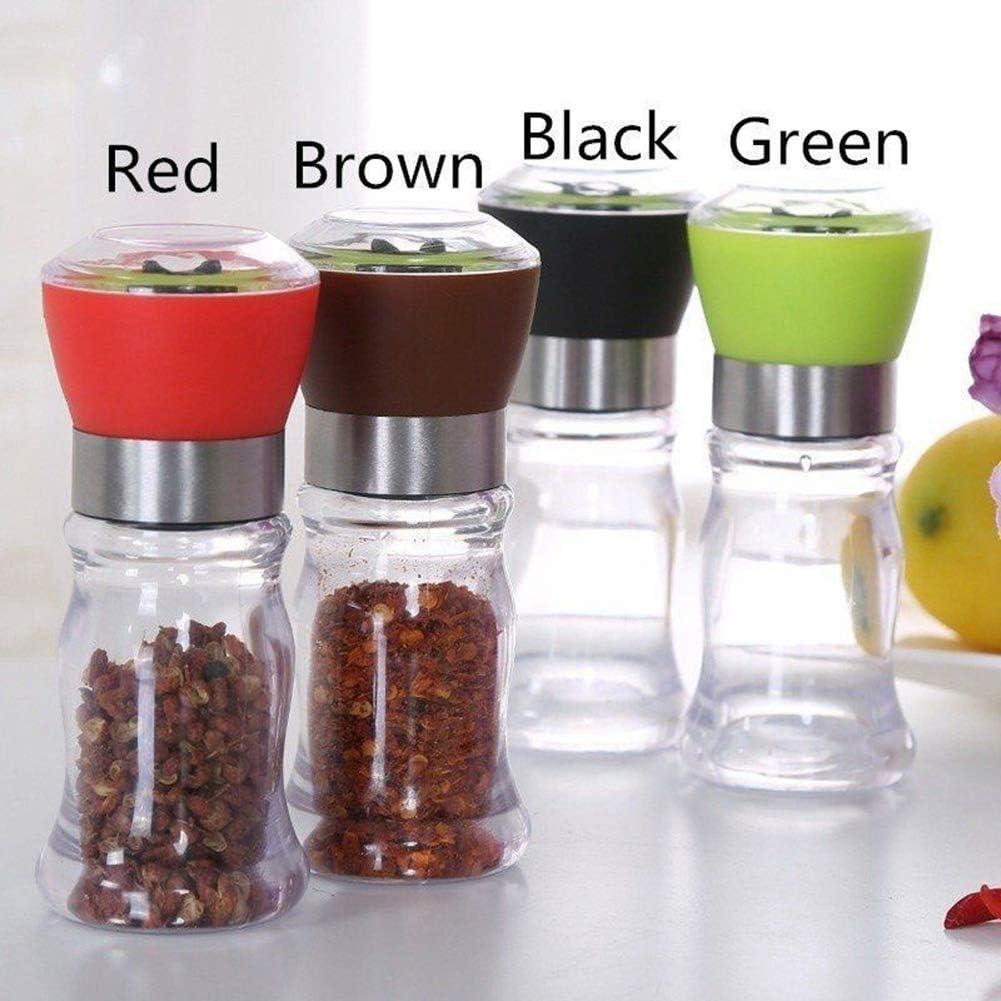Portable Manual Hand Twist Pepper Mill Spice Salt Grinder Kitchen Grinding Tool