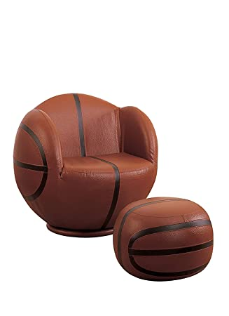 Marvelous Acme 05527 2 Piece All Star Set Chair And Ottoman Basketball Bralicious Painted Fabric Chair Ideas Braliciousco