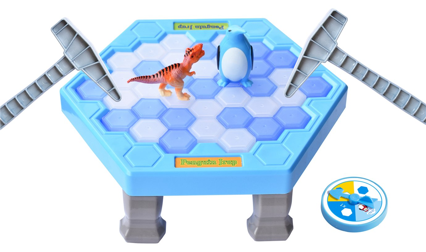 SPEAK FUN Penguin Trap Puzzle Table Games Balance Ice Cubes Icebreaking Games Save the Penguin Interactive Family Game by SPEAK FUN (Image #1)