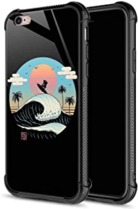 CARLOCA iPhone 6S Plus Case,Vintage Ukiyo-E Surf iPhone 6 Plus Cases for Girls Boys,Graphic Design Shockproof Anti-Scratch Drop Protection Case for Apple iPhone 6/6S Plus