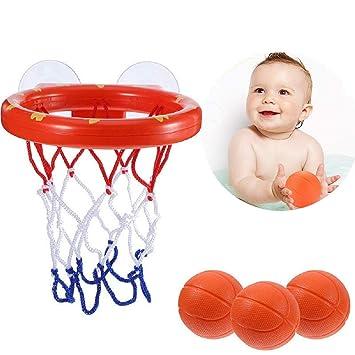 Lomire® Mini Baloncesto Juguetes Baño Bañera Divertidos Juegos de ...