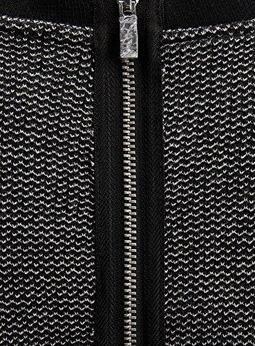 Femme Robe oodji Noir avec Maille Liser Ultra 2912s Contrastant vxwwU