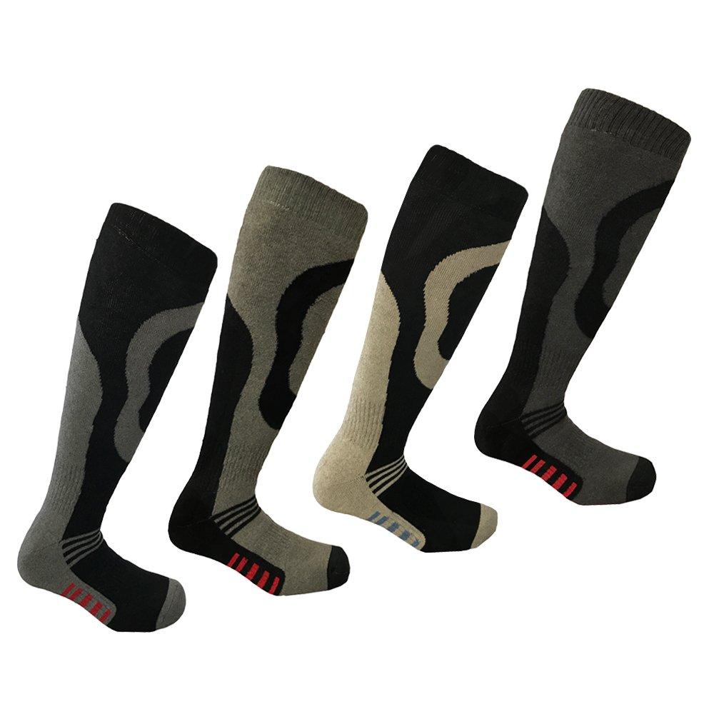 4 Pairs Men's Ski Socks Long Hose
