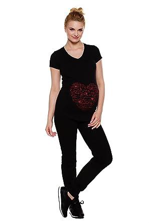 f26cb82d32a My Tummy Le de maternité et grossesse pantalon de fitness bande noir XL  (très grande