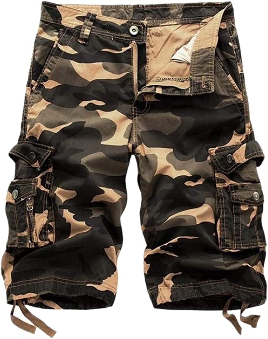 Generic Mens Multicamo Plus Size Summer Daily Tactical Walk Shorts