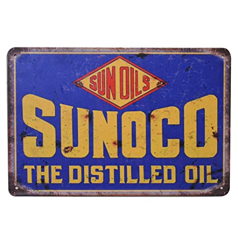 Amazon.com: PEIs Sunoco The Distilled Oil, Cartel retro ...