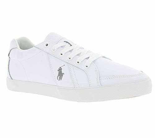 Polo Ralph Lauren Hugh Hombre Zapatillas Blanco 41: Amazon.es ...