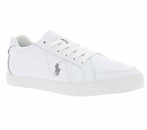 Polo Ralph Lauren Hugh Hombre Zapatillas Blanco 43: Amazon.es: Zapatos y complementos