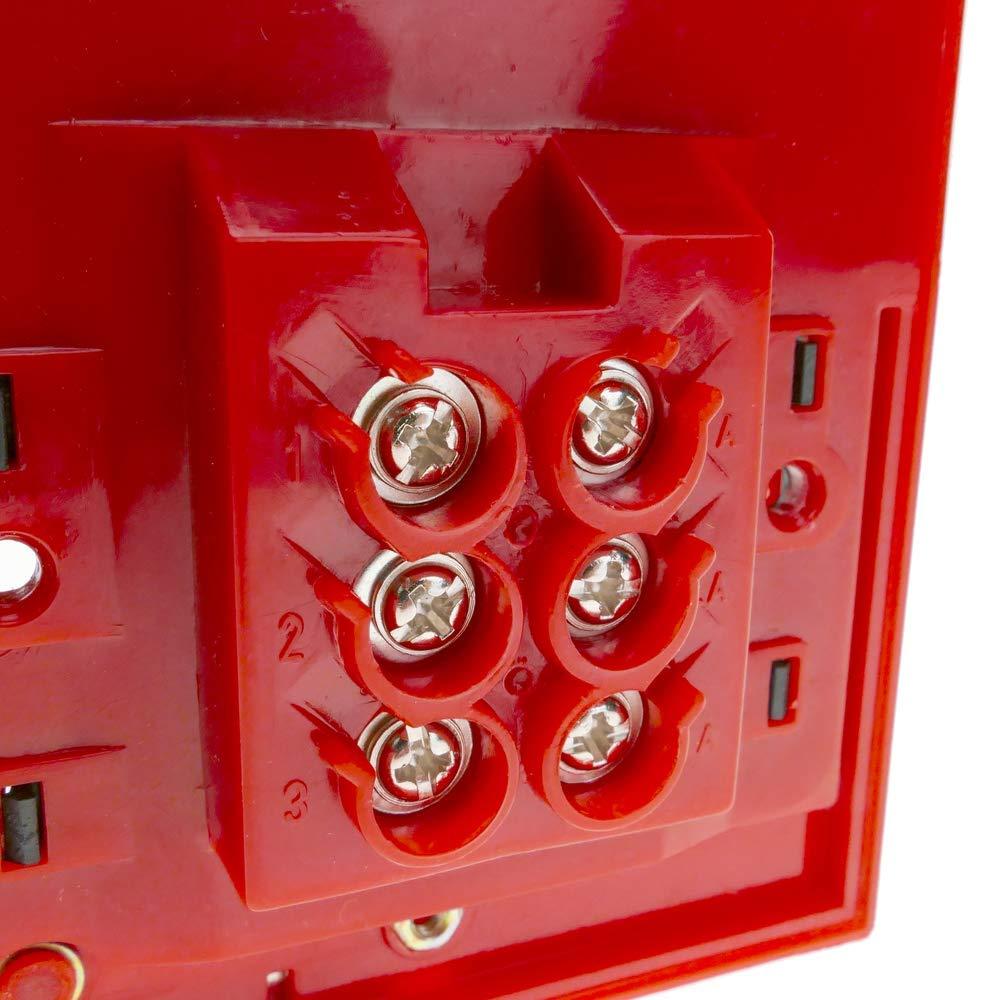 BeMatik Pulsador Manual de Emergencia para alarmas de Incendios con luz LED
