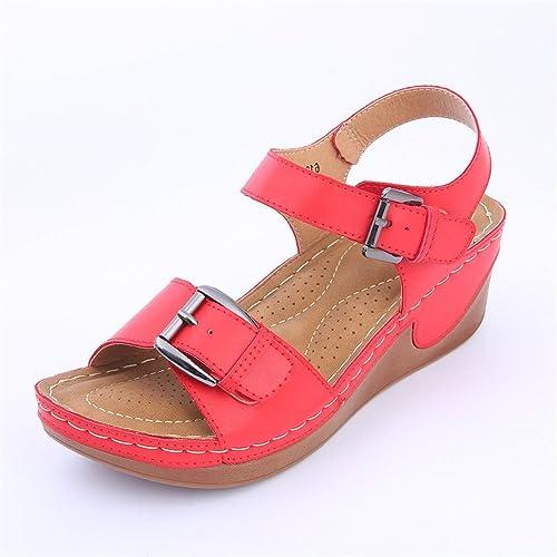 De Academy Zapatos 2018 Sandalias Mujer New Summer Hebilla by76Yfgv