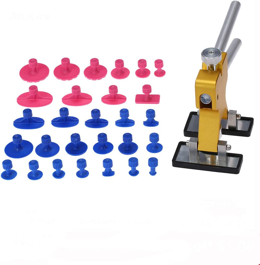 Car Dent Tools Set Woodworking Tools Dent Lifter Hand Tools Sets Practical Hardware Cars Puller 29PCS Yellow 19pcs Yellow