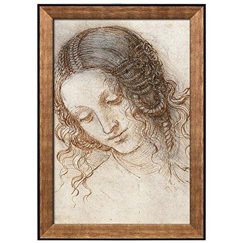 Study for the Head of Leda by Leonardo Da Vinci Framed Art