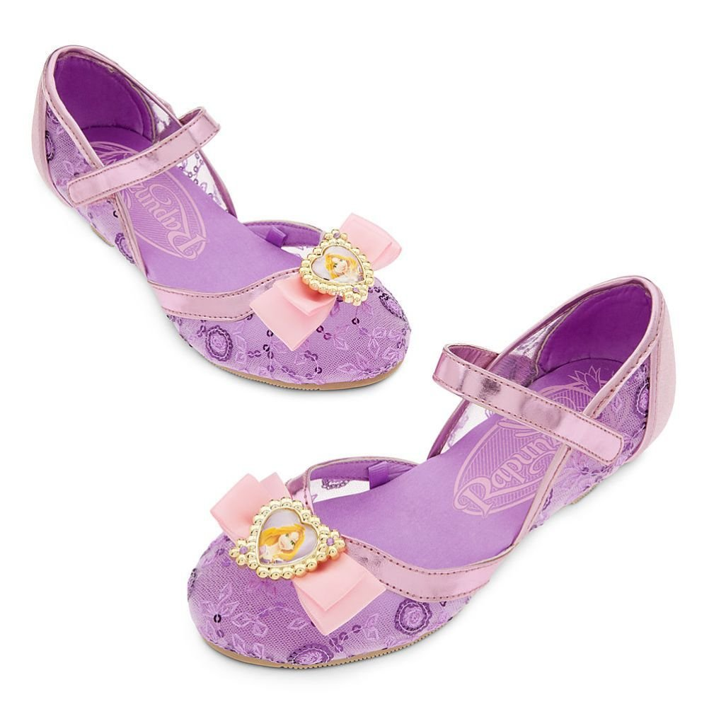 Disney Store Tangled Rapunzel Big Girl Costume Dress Shoes Size 13/1