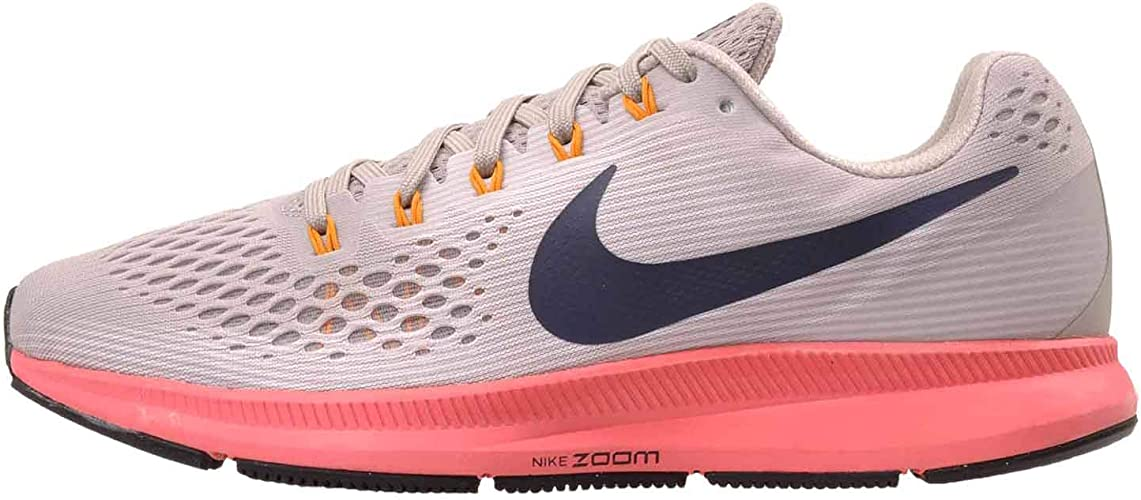 Nike Mens Air Zoom Pegasus 34 Running Shoe, 10, Moon Particle/Blackened Blue: Amazon.es: Zapatos y complementos