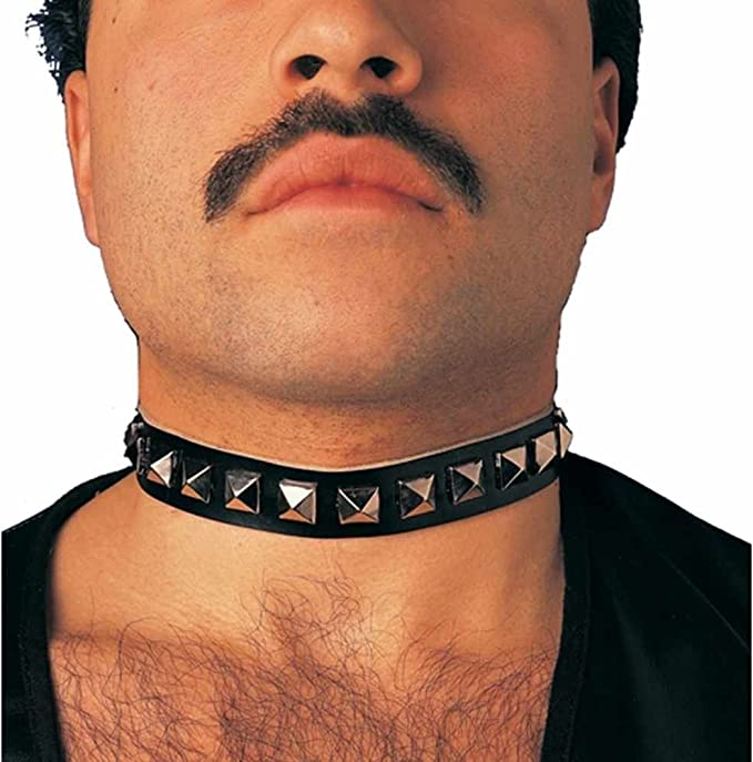 Adult Black Metal Studded Gothic or Punk Style  Fancy Dress Neck Choker