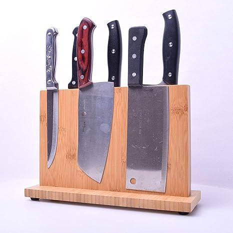 Xue-Shelf Bloque de Cuchillos/Porta Cuchillos de bambú ...