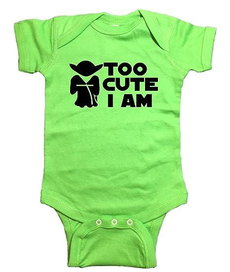 00911cc7b Amazon.com: Star Wars Baby Yoda Too Cute I Am One Piece: Clothing