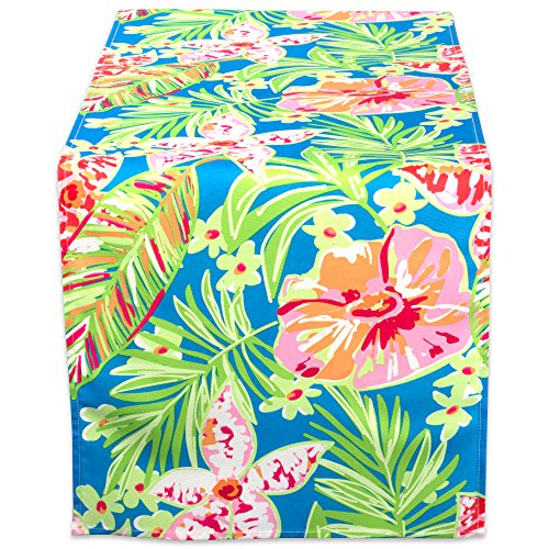 DII Outdoor Table Runner, 14x72, Summer Floral