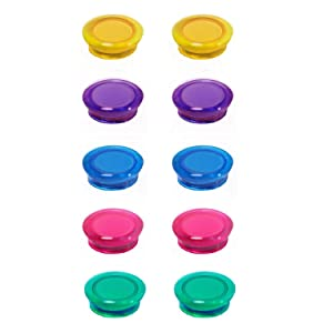 Diameter 1.2 inch ● Whiteboard/Refrigerator Magnets ● Assorted Colors, Pack of 20