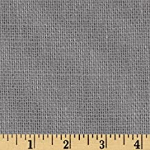 60in Sultana Burlap Smoke Charcoal Fabric By The Yard