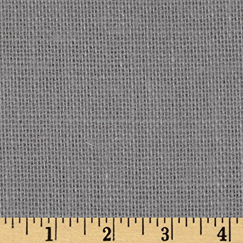 James Thompson 60in Sultana Burlap Smoke Charcoal Fabric By The Yard (Burlap Fabric Wall Covering)
