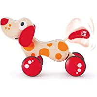 Hape E0347B Pepe Pull Along Toddler Toy, Red/Orange