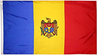 product image for Annin Flagmakers Model 973713 Moldova Flag 3x5 ft. Nylon SolarGuard Nyl-Glo 100% Made in USA to Official United Nations Design Specifications.
