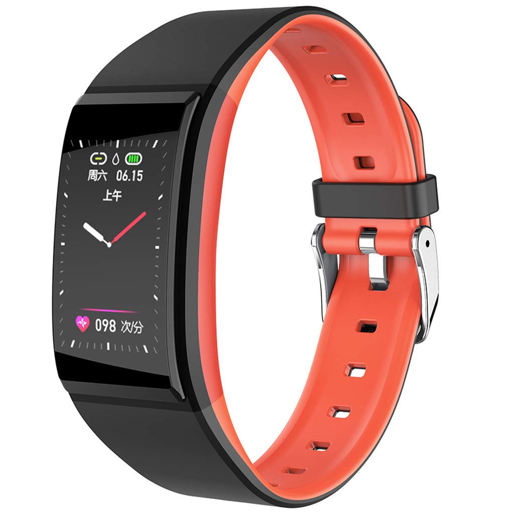 FEDULK Sports Wristband Smart Watch Heart Rate Blood Pressure Healthy Monitoring Android iOS Smartwatch(Red) by FEDULK