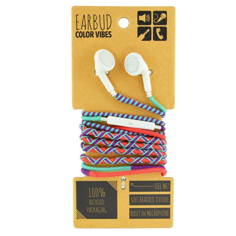 Amazon.com: Trenzado envuelto auriculares con micrófono ...