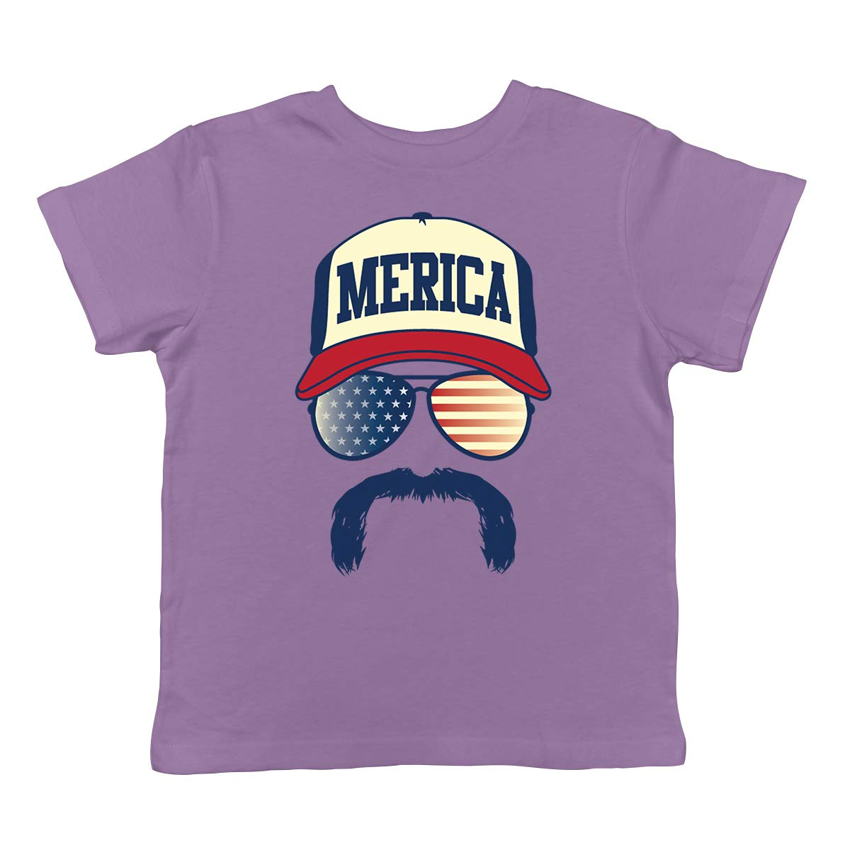 SpiritForged Apparel Merica Hat Glasses /& Mustache Infant T-Shirt