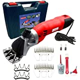 Sheep Shears Pro 110V 500W Professional Heavy Duty Electric Shearing Clippers with 6 Speed, for Shaving Fur Wool in…