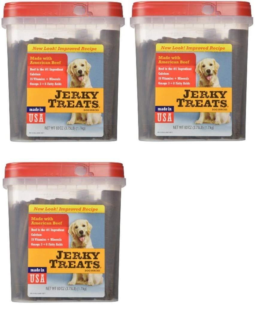 Jerky Treats Tender Beef Strips Dog Snacks, 60 oz, 3 Pack