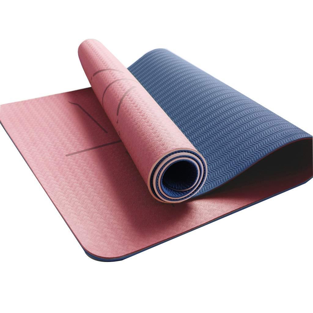 Amazon.com : RUNWEI TPE Yoga Mat Men and Women Leisure ...