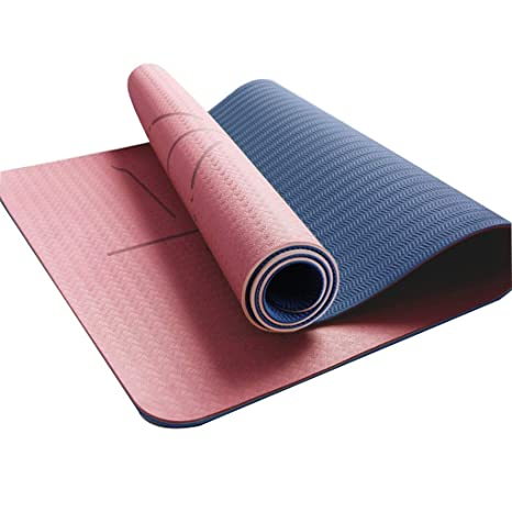Amazon.com : RUNWEI TPE Yoga Mat Men and Women Leisure ...