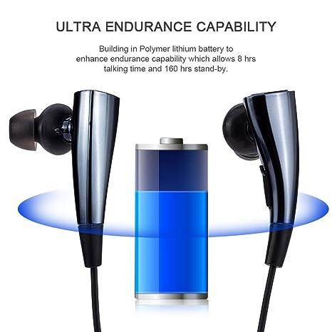 F11 auricular Bluetooth estéreo inalámbrico auriculares manos libres deportes auricular sumergible magnético con reducción de ruido para iPhone Samsung ...
