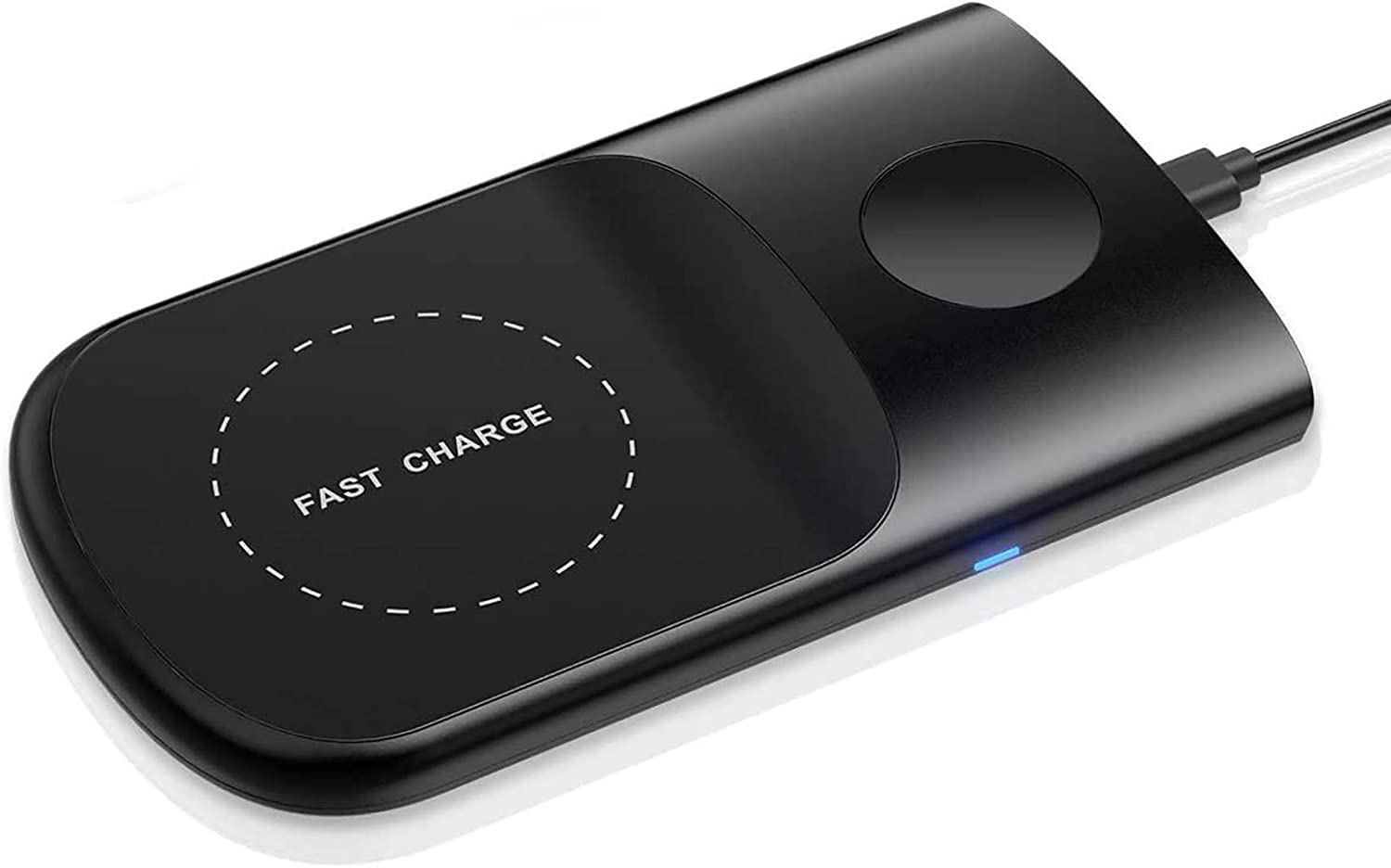 Wireless Charger [with 18W Adapter], HoRiMe 3 in 1 Wireless Charging Pad for AirPods/Apple Watch Series 5/4/3/2/1, Fast iPhone Wireless Charger for iPhone 11/11 Pro/11 Pro Max/XS Max/XR/X/8P (Black)