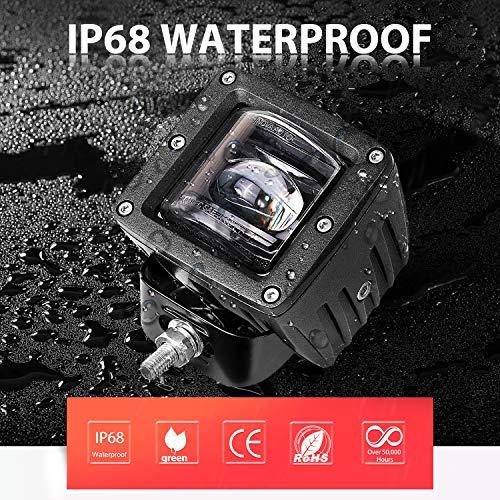 DJI-4X4-2PCs-18W-LED-4-inch-Work-Light-Bar-Unique-Black-Lens-Flood-Driving-Fog-Lights-with-Mounting-Bracket-for-Offroad-SUV-ATV-UTV-Boat-2-Black-Lens-Covers