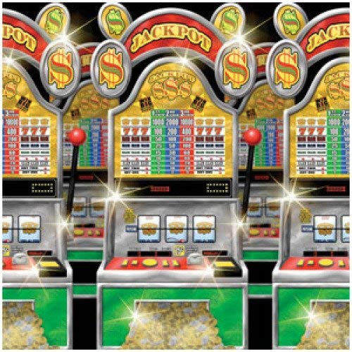 Casino Party Slot Machines Room Roll, 4' x 40' -