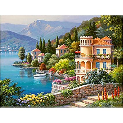Amazon Com Jynxos Framed Venice Landscape Diy Painting By Numbers