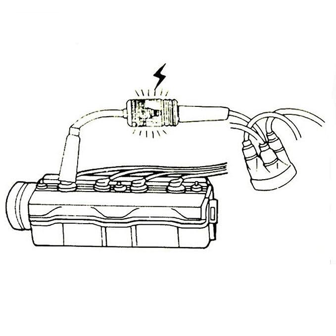 Amazon.com: In-line Bujía Motor comprobador de ignición, 6 ...