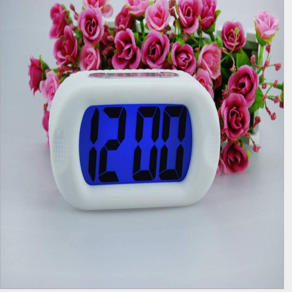 Reloj inteligente LED Reloj luminoso a prueba de golpes Mudo Luminoso Multifuncional Snooze Despertador de silicona