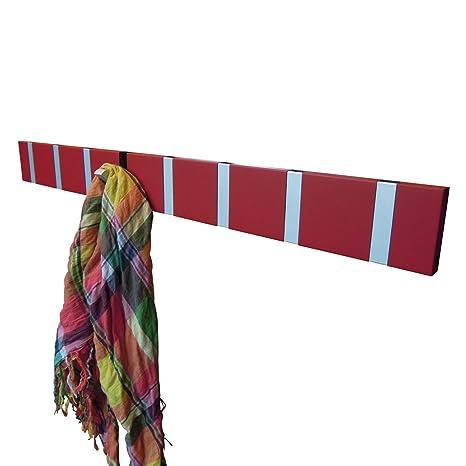 8 Knax perchero rojo, 79 x 1,7 cm, h 8 cm: Amazon.es: Hogar