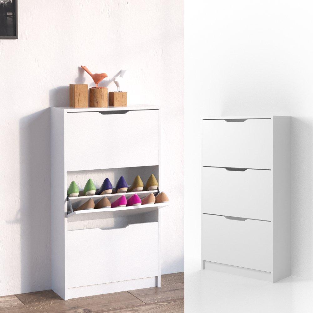 VICCO zapatero LUCA balda para zapatos blanco 3 compartimentos estante para zapatos guardazapatos