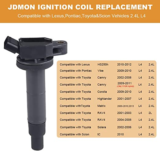 Coil Packs JDMON Ignition Coils Pack of 4 Compatible with 2001 ...