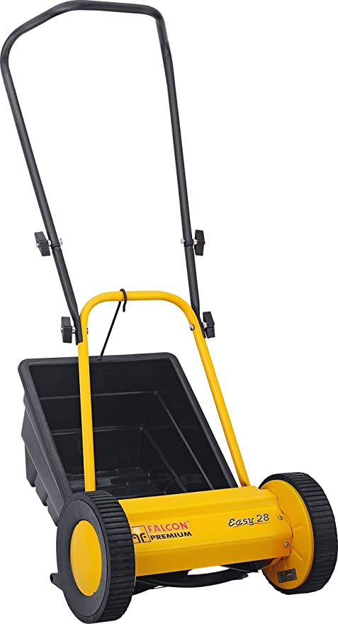 Falcon Premium 300mm Hand Lawn Mower (Yellow and Black)