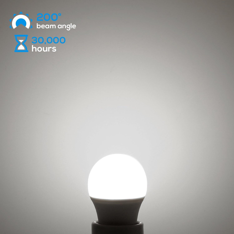 Waterproof Omni Directional LED Bulb 450lm 40W Equivalent 3000K Warm White TORCHSTAR 5W A15 LED Light Bulb E26//E27 Medium Base