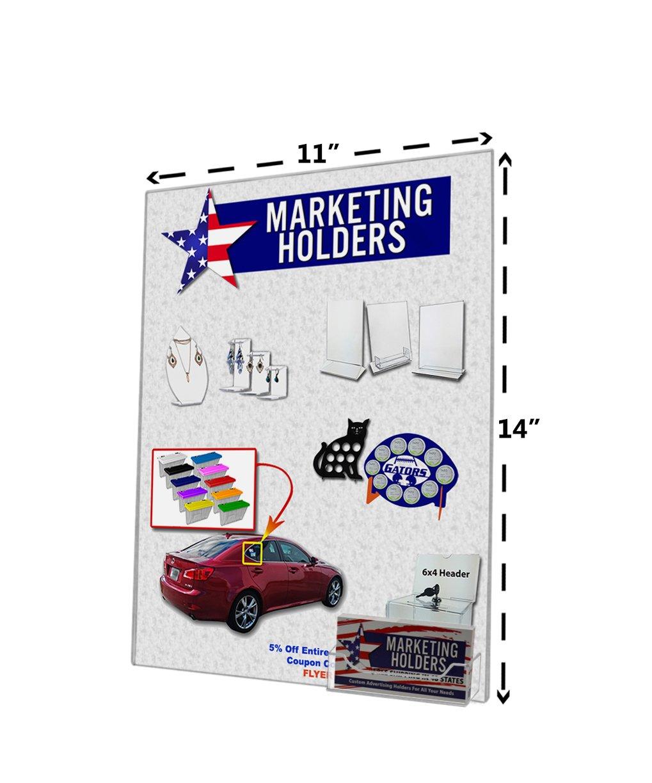 Marketing Halterungen Acryl klar Wandhalterung AD Rahmen Schild ...