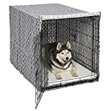 """Midwest Homes for Pets CVR48T-GY Dog Crate Cover, Gray Geometric Pattern, 48"""""""
