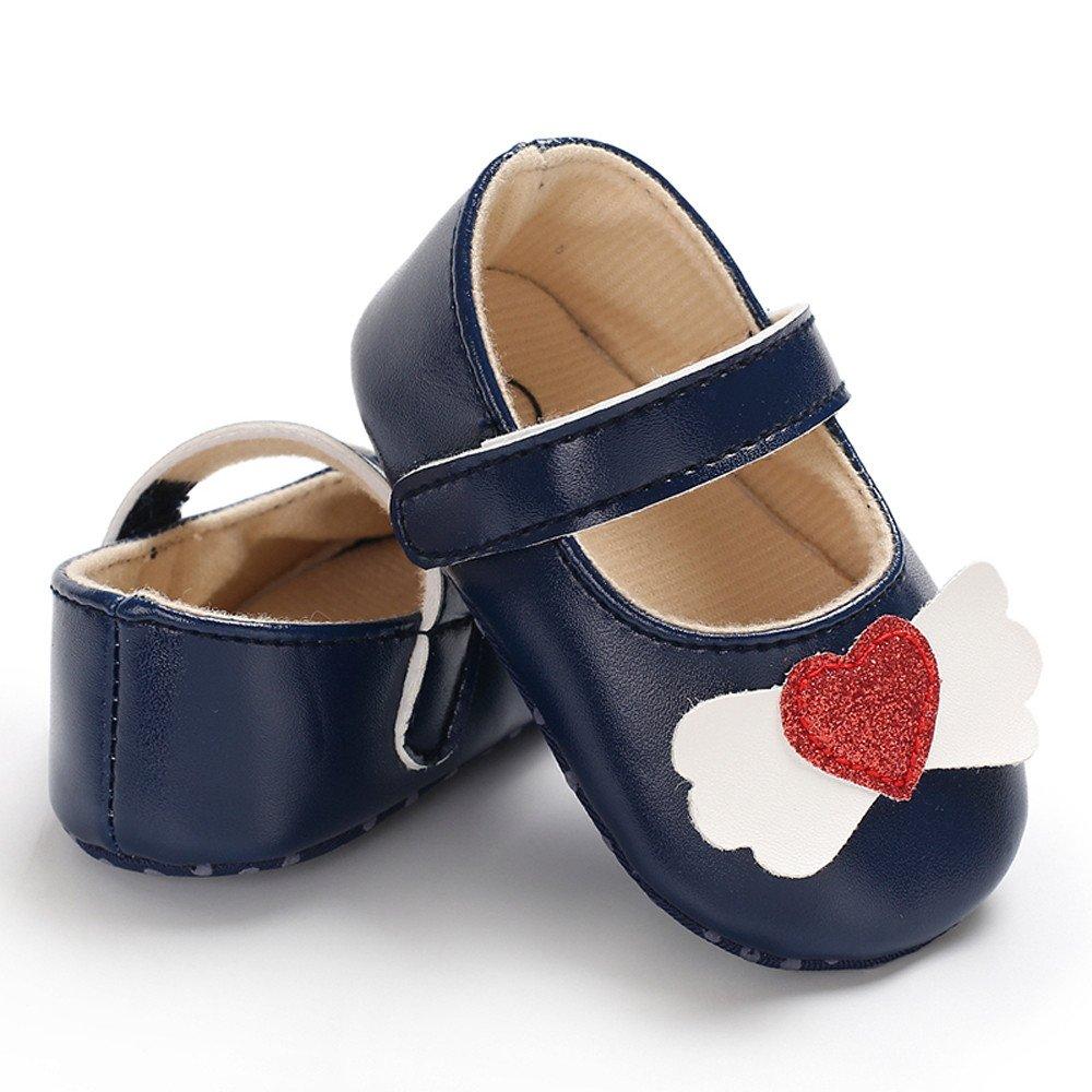 Infant Newborn Baby Baby Girls Shoes Love Soft Crib Anti-Slip Single Sneaker